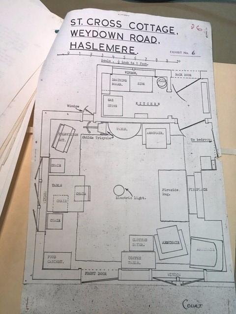 Police map of the murder scene