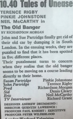 Tales of Unease: The Old Banger (1970)