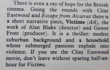 Dilys Powell's review of Victims