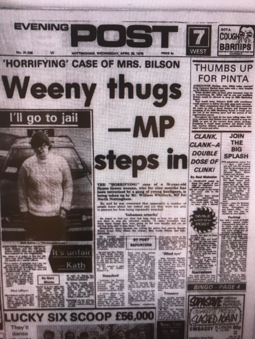 Nottingham Evening Post 1978